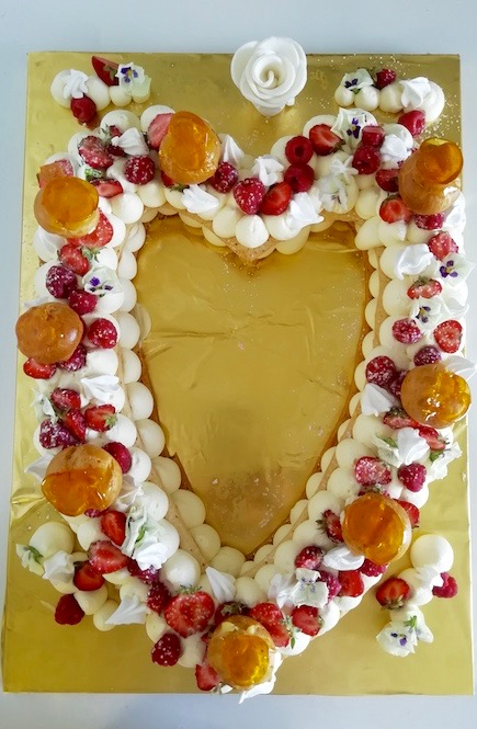 Heart cake toulouse